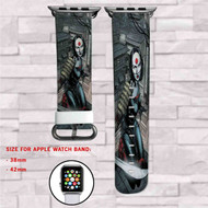 Katana DC Comics Custom Apple Watch Band Leather Strap Wrist Band Replacement 38mm 42mm