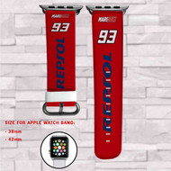 Marc Marquez 93 Custom Apple Watch Band Leather Strap Wrist Band Replacement 38mm 42mm