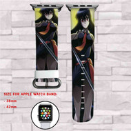 Akame ga Kill Murasame Sword Custom Apple Watch Band Leather Strap Wrist Band Replacement 38mm 42mm