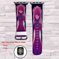 Asuka Langley Soryu Neon Genesis Evangelion Custom Apple Watch Band Leather Strap Wrist Band Replacement 38mm 42mm