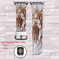 Asuna Yuuki Sword Art Online Custom Apple Watch Band Leather Strap Wrist Band Replacement 38mm 42mm