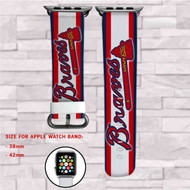 Atlanta Braves MLB Custom Apple Watch Band Leather Strap Wrist Band Replacement 38mm 42mm