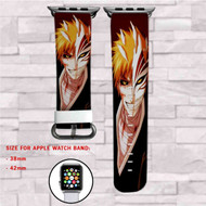 Bleach Ichigo Hollow Mask Custom Apple Watch Band Leather Strap Wrist Band Replacement 38mm 42mm
