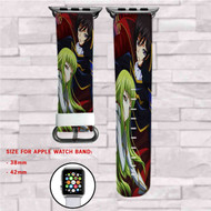 Code Geass Hangyaku no Lelouch Custom Apple Watch Band Leather Strap Wrist Band Replacement 38mm 42mm