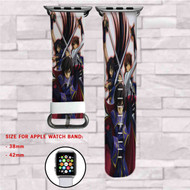 Code Geass Lelouch Lamperouge and Suzaku Kururugi Custom Apple Watch Band Leather Strap Wrist Band Replacement 38mm 42mm