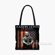 Aaron Lewis Custom Personalized Tote Bag Polyester with Small Medium Large Size