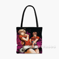 All Out Anime Custom Personalized Tote Bag Polyester with Small Medium Large Size