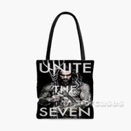Aquaman Unite The Seven Custom Personalized Tote Bag Polyester with Small Medium Large Size