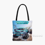Monster Trucks Custom Personalized Tote Bag Polyester with Small Medium Large Size