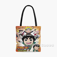 Naruto Spin off Rock Lee His Ninja Pals Custom Personalized Tote Bag Polyester with Small Medium Large Size