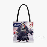 Onihei Custom Personalized Tote Bag Polyester with Small Medium Large Size