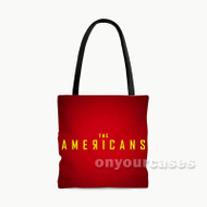 The Americans Custom Personalized Tote Bag Polyester with Small Medium Large Size