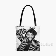 The Weeknd Custom Personalized Tote Bag Polyester with Small Medium Large Size