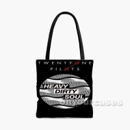 Twenty One Pilots Heavy Dirty Soul Custom Personalized Tote Bag Polyester with Small Medium Large Size