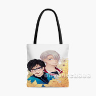 Yuri on Ice Victor and Yuri Custom Personalized Tote Bag Polyester with Small Medium Large Size