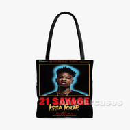 21 Savage Issa Tour Custom Personalized Tote Bag Polyester with Small Medium Large Size