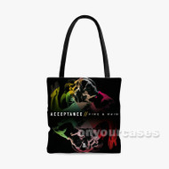 Acceptance Fire And Rain Custom Personalized Tote Bag Polyester with Small Medium Large Size