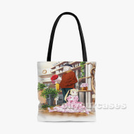 Alice Zouroku Custom Personalized Tote Bag Polyester with Small Medium Large Size