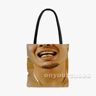 Always P Lo Feat Rexx Life Raj Custom Personalized Tote Bag Polyester with Small Medium Large Size
