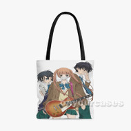 Anonymous Noise Custom Personalized Tote Bag Polyester with Small Medium Large Size