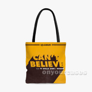 Can t Believe Kranium Feat Ty Dolla ign Wiz Kid Custom Personalized Tote Bag Polyester with Small Medium Large Size
