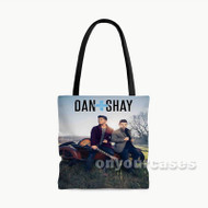 Dan Shay Custom Personalized Tote Bag Polyester with Small Medium Large Size