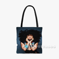 Erykah Badu Custom Personalized Tote Bag Polyester with Small Medium Large Size