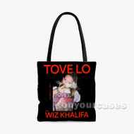 Influence Tove Lo Feat Wiz Khalifa Custom Personalized Tote Bag Polyester with Small Medium Large Size