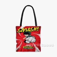Izuku Midoriya My Hero Academia Custom Personalized Tote Bag Polyester with Small Medium Large Size
