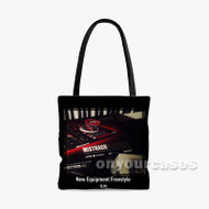 Quentin Miller New Equipment Freestyle Custom Personalized Tote Bag Polyester with Small Medium Large Size