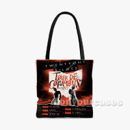 Twenty One Pilots Tour De Columbus Custom Personalized Tote Bag Polyester with Small Medium Large Size