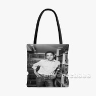 Young Obama Custom Personalized Tote Bag Polyester with Small Medium Large Size