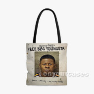 Young Thug Free Blac Youngsta Custom Personalized Tote Bag Polyester with Small Medium Large Size