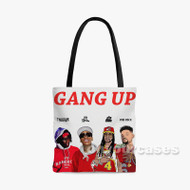 Young Thug 2 Chainz Wiz Khalifa Pn B Rock Gang Up Custom Personalized Tote Bag Polyester with Small Medium Large Size