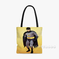 Adam West Batman Custom Personalized Tote Bag Polyester with Small Medium Large Size
