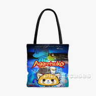 Aggretsuko season 2 Custom Personalized Tote Bag Polyester with Small Medium Large Size