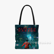 Altered Carbon Custom Personalized Tote Bag Polyester with Small Medium Large Size