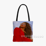 Amber Mark Custom Personalized Tote Bag Polyester with Small Medium Large Size