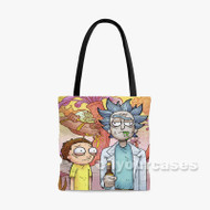 American Gothic Rick and Morty Custom Personalized Tote Bag Polyester with Small Medium Large Size