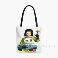 Android 17 Dragon Ball Super 2 Custom Personalized Tote Bag Polyester with Small Medium Large Size
