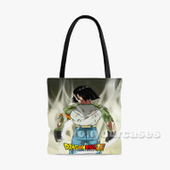 Android 17 Dragon Ball Super Custom Personalized Tote Bag Polyester with Small Medium Large Size