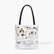Animal Collective Custom Personalized Tote Bag Polyester with Small Medium Large Size