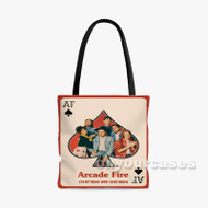 Arcade Fire Everything Now Continued Custom Personalized Tote Bag Polyester with Small Medium Large Size