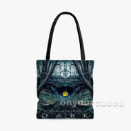 Dark Custom Personalized Tote Bag Polyester with Small Medium Large Size