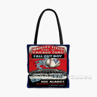 Fall Out Boy Wrigley Field Home of Chicago Cubs Custom Personalized Tote Bag Polyester with Small Medium Large Size