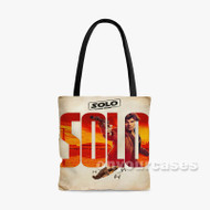 Han Solo Star Wars Solo Custom Personalized Tote Bag Polyester with Small Medium Large Size