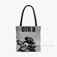 Jay Z and Beyonce On the Run II Custom Personalized Tote Bag Polyester with Small Medium Large Size
