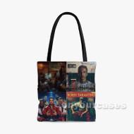 LOGIC BOBBY TARANTINO Custom Personalized Tote Bag Polyester with Small Medium Large Size