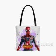 Spiderman The Avengers Infinity War Custom Personalized Tote Bag Polyester with Small Medium Large Size