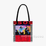 5 SOS Meet You There Tour Custom Personalized Tote Bag Polyester with Small Medium Large Size